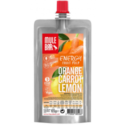 Pulpe de Fruits MuleBar Vegan Orange Carotte Citron 65 g